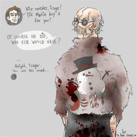 Sweater Outlast 2 rick trager in an sweater by