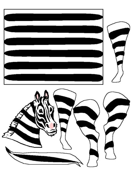 zebra template troll paper bag puppet crafts
