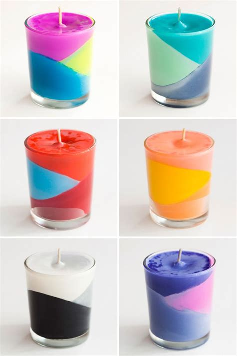 color candles use crayons to create color block candles melt crayons