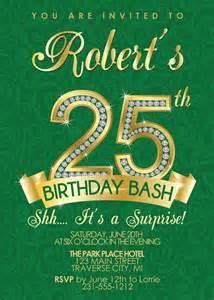 25th birthday invitation wording 25th birthday invitation birthday invitation