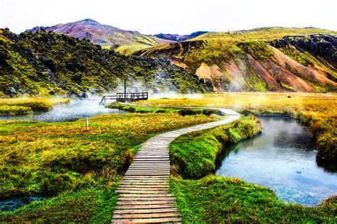 Pretty Pools by Landmannalaugar Iceland The Springs Of Landmannalaugar