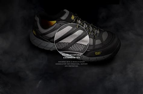 Caterpillar Blood Safety cat footwear technology