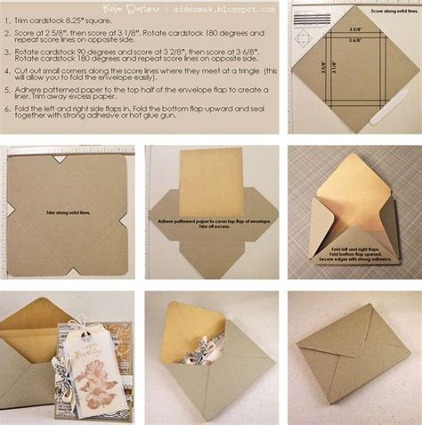 how to make an envolope paper loves glue envelope tutorial for embellished cards