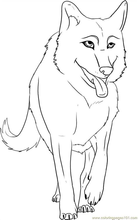 coloring pages to draw a cartoon wolf step 6 animals