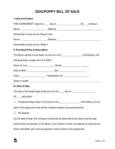 Puppy Contract Templates You Should Experience Puppy Spay And Neuter Contract Template