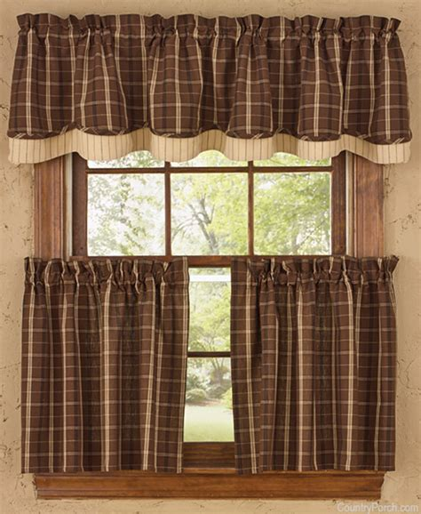 The Country Porch Curtains Lined Layered Curtain Valance