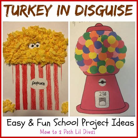 Easy And Fun Turkey In Disguise Projects Turkey Disguise Project Template