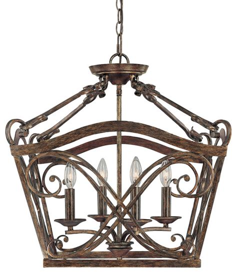 Mediterranean Light Fixtures Capital Lighting 9361rt Reserve 4 Light Foyer Fixture Rustic Mediterranean Pendant Lighting