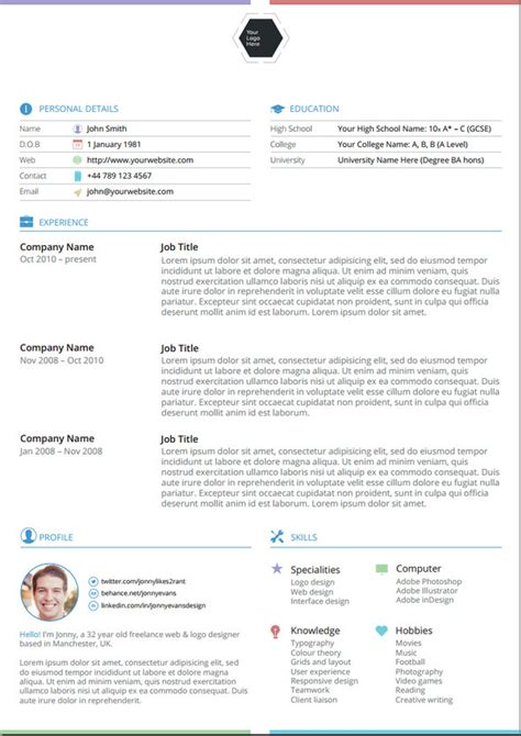 Best Cv Template 2014 Uk Resume Vitae Template Free Cv Template Curriculum Vitae Template And Cv Exle Best 25