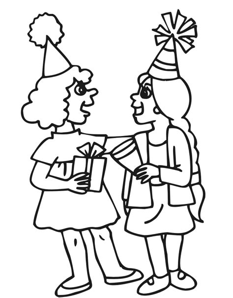 coloring page birthday girl index of coloringpages birthdays