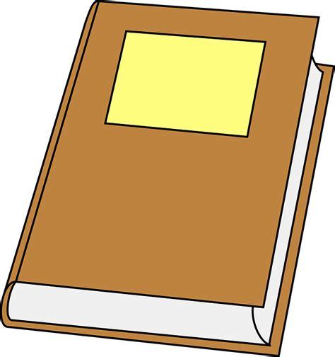 foto clipart vector gratis libro cerrado brown duro imagen gratis