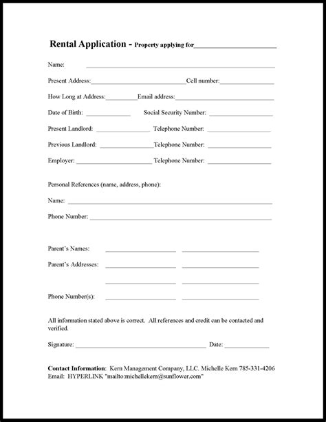 printable house rental application house rental application form free printable documents
