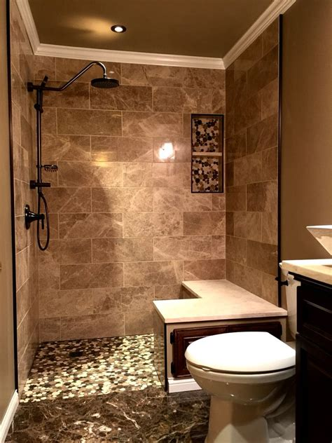 Badezimmer Fliesen Beige Braun by Bathroom Design Marble Tile Bathroom Brown Marble Beige