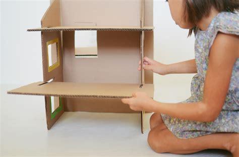 cardboard doll houses diy recycled cardboard dollhouse cakies