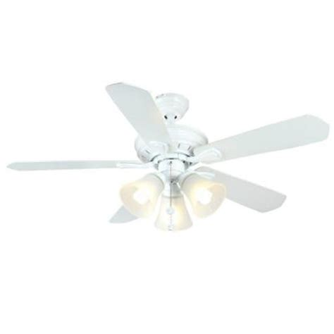 Home Depot White Ceiling Fan With Light Hton Bay Westmount 44 In 3 Light Matte White Ceiling Fan 26627 The Home Depot