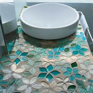 mosaic tile ideas decoration ideas leaves and flowers glass mosaic