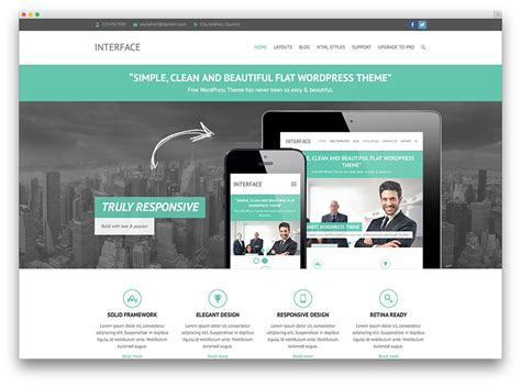 wordpress theme free company website 30 free responsive wordpress business themes 2017 colorlib