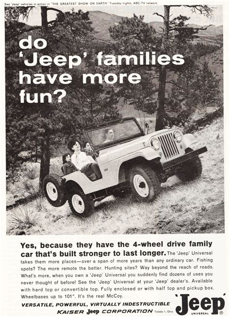 vintage jeep ad 1964 jeep cj 5 ad classic cars today online