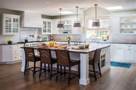kitchens with large islands fabulously cool large kitchen islands with seating and
