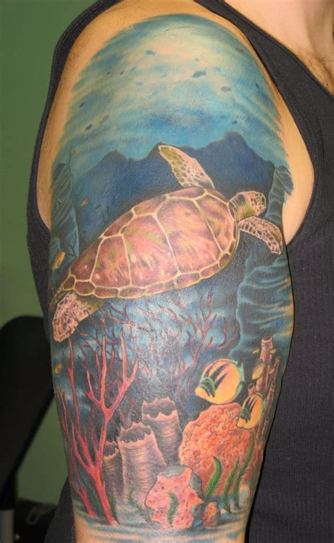 coral tattoo coral reef drawings for tattoos sea turtle