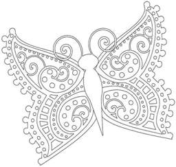 Galerry butterfly alphabet coloring book
