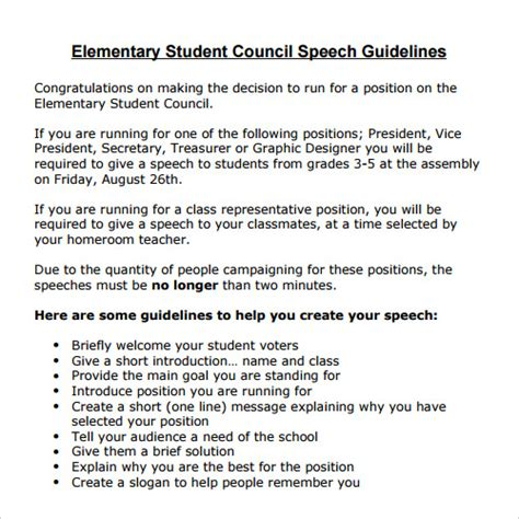 Speech Examples   23  Download Free Documents in PDF , Word