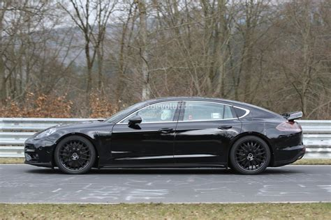 porsche panamera 2017 black 2017 panamera executive nurburgring spyshots how porsche
