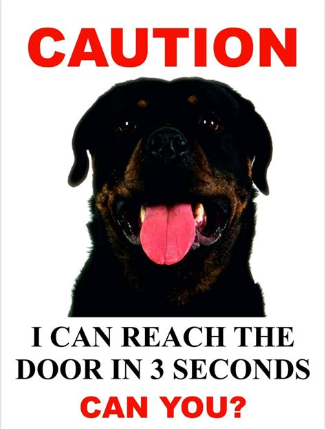 beware of rottweiler sign beware of signs