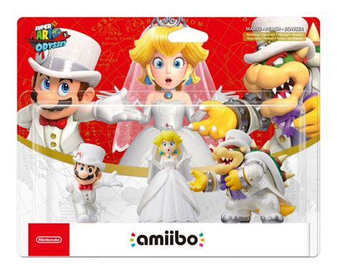 Amiibo Mario Wedding Mario Odyssey Series mario odyssey amiibo packaging reveals three new kingdoms nintendo