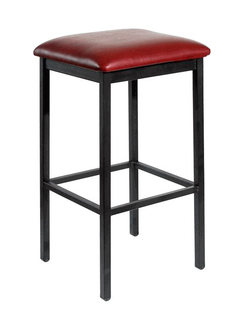 commercial metal bar stools commercial backless black metal bar stool w choice of