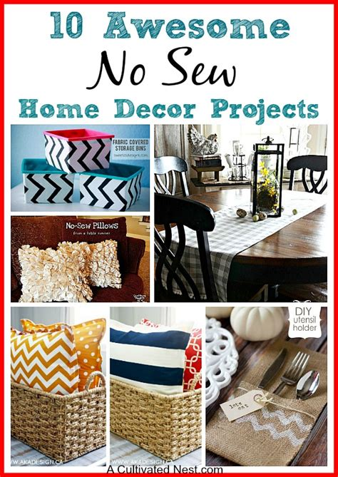home decor sewing ideas 15 easy sewing projects for beginners a cultivated nest