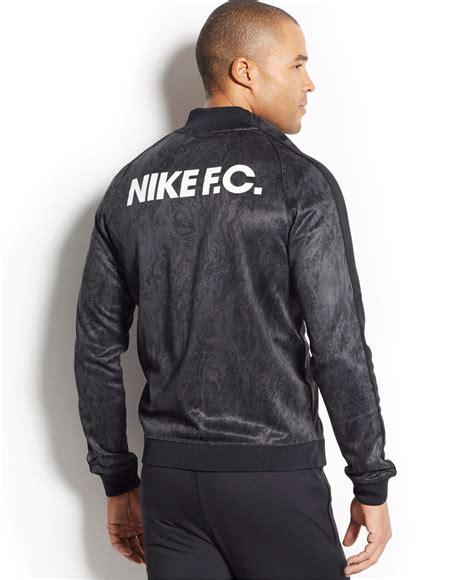 Sweater Nike Fc Grey Gradasi nike fc n98 printed zip track jacket in black for lyst