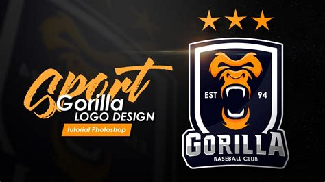 tutorial photoshop cs6 typography bahasa indonesia how to design a sports logo quot gorilla logo quot tutorial