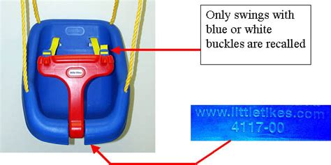 little tikes outdoor swing recall cpsc little tikes announce recall of swings cpsc gov
