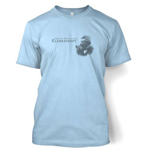 T Shirt Sherlock Anime elementropy sherlock clerk maxwell t shirt