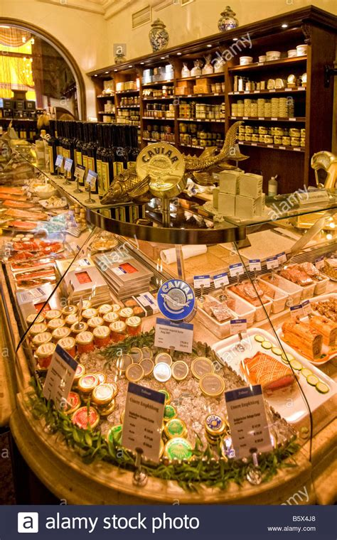 Caviar Shoo dahlmeier delicatessen shop caviar munich germany stock