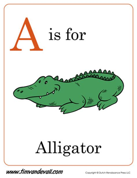 for a a is for alligator letter a printable