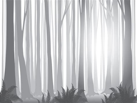 forest templates foggy forest powerpoint templates black nature white