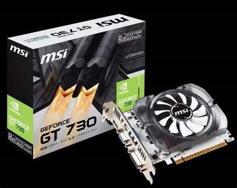 Msi Vga Nvidia N730 2gd3v3 Hitam placa de vga msi geforce gt 730 2gb ddr3 128bits r