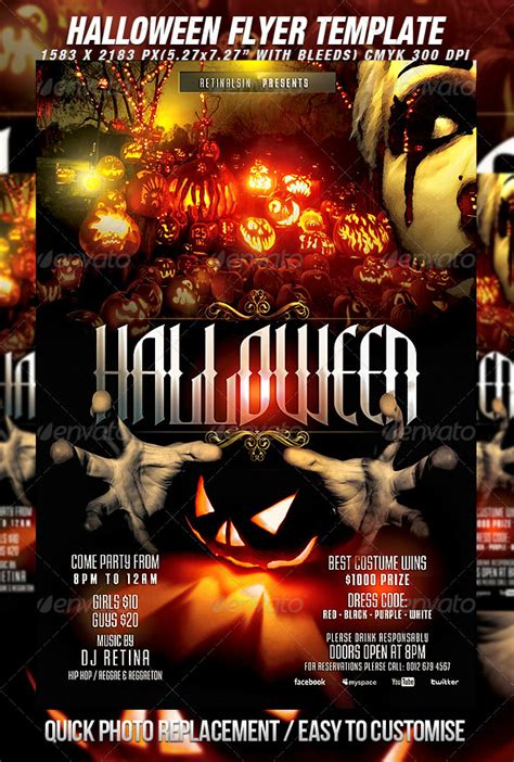 templates for halloween flyers halloween flyer template print ad templates