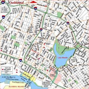 road map of oakland oakland california aaccessmaps
