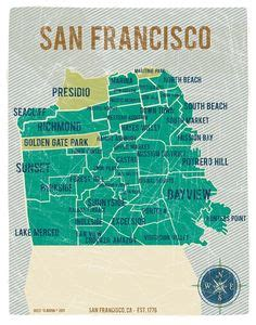 San Francisco State Mba Cost by State Of California Map Poster In Yellow Vintage By
