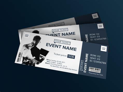 design event tickets online free business event ticket design template 001 creatily market