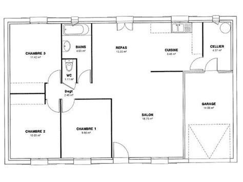 Plan De Maison 120m2 Plain Pied by Plan Maison Plain Pied 120m2 Contemporaine Plans