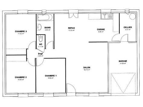 Plan Maison 120m2 Plain Pied 4349 by Plan Maison Plain Pied 120m2 Contemporaine Plans