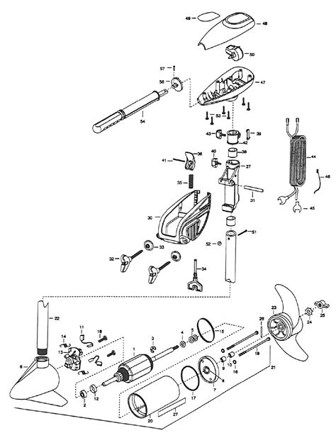 minn kota trolling motor parts diagram minn kota powermax 47 parts 2001 from fish307