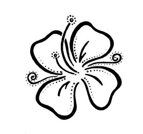 tribal hibiscus flower tattoo designs easy designs flower by donniekompany
