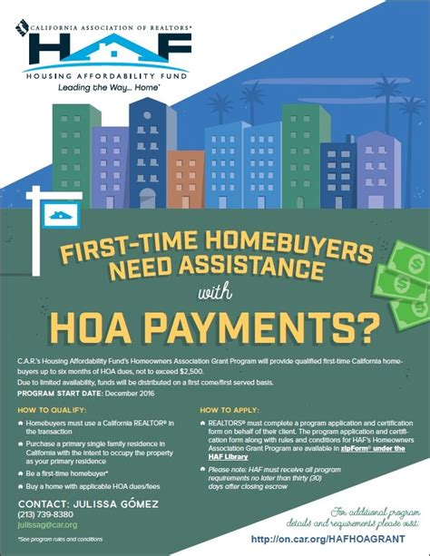 time home buyer hoa payment assistance gately