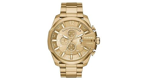 Diesel Mega Chief Gold White 20 best gold tone watches for the trend spotter