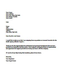 Resignation Letter Format Editable how to write a letter for permanent employment cover letter templates